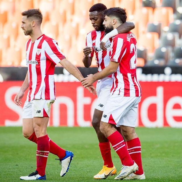 Iñaki Williams celebra un gol junto a sus compañeros. |Fuente: Instagram @athleticclub