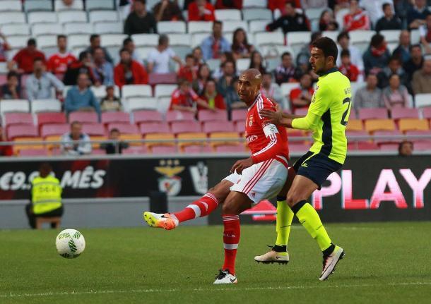 Luisão voltou a pisar os relvados // Foto: Facebook do SL Benfica