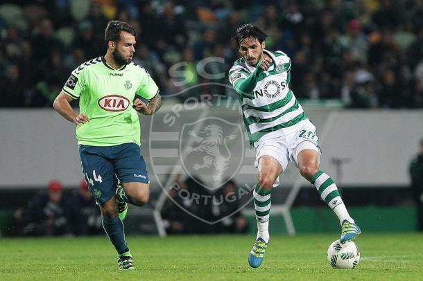Ruiz fez 2 dos 5 golos com que o Sporting goleou o Setúbal (Foto: Facebook Oficial Sporting Clube de Portugal)