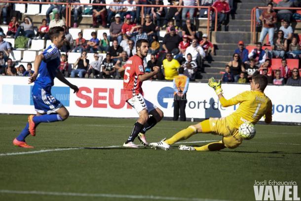 Aburjania marcó el empate en el 48' | Foto: Jordi Echevarria | VAVEL.