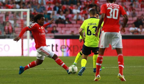 As águias superiorizaram-se nos minutos finais do 1º tempo // Foto: Facebook do SL Benfica