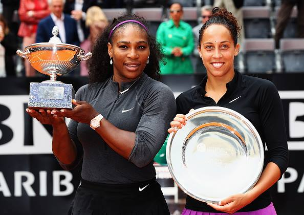 Serena Williams defeated fellow American Madison Keys in the 2016 Italian Open finals. Credit: Matthew Lewis/Getty Images Europe