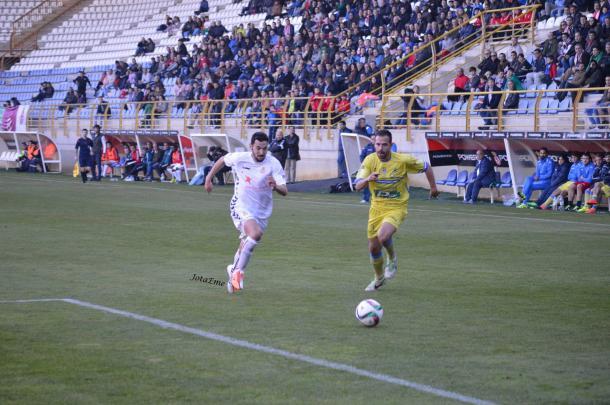 Villarejo ante Arandina   Foto: @JotaEmeMendoza