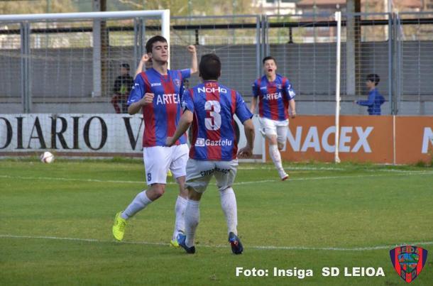 Su gol en Gal evitó el descenso | FOTO: Insiga (SD Leioa)