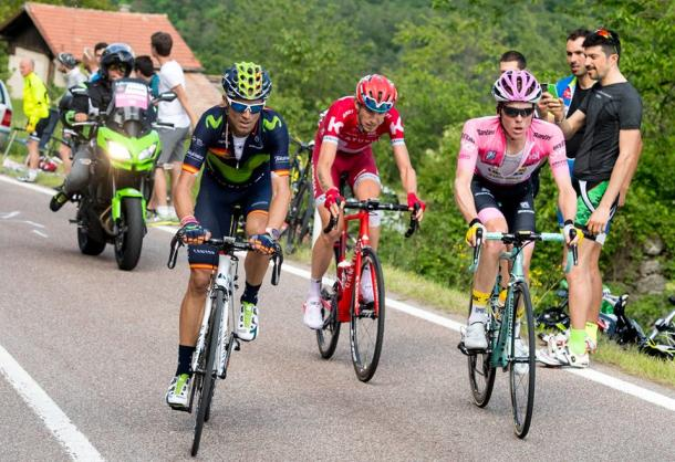 Valverde, Zakarin y Kruijswijk ,los mas fuertes de hoy | Foto: Giro de Italia