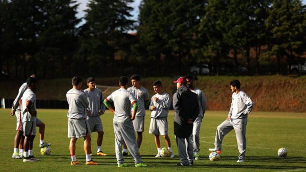 Sob muito frio, Levir definiu o time (Foto: Divulgação/Fluminense)