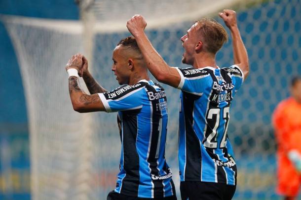 Everton abriu o placar para o Grêmio (Foto: Divulgação/Grêmio)