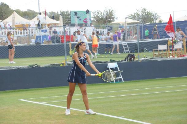 Puig was two games away from victory at 4-3 up, but she got broken only to break late and seal the match/Photo Source: Mallorca Open Facebook Page