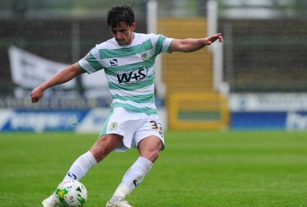 Shephard made 20 appearances last season for Yeovil. (Photo: The Western Gazette)