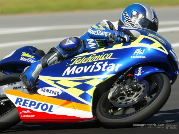 Dani Pedrosa durante la prueba en Le Mans 2003 / Foto: motogp.com
