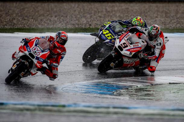 Petrucci had passed Rossi and was in pursuit of Dovizioso - www.facebook.com (Pramac Racing)