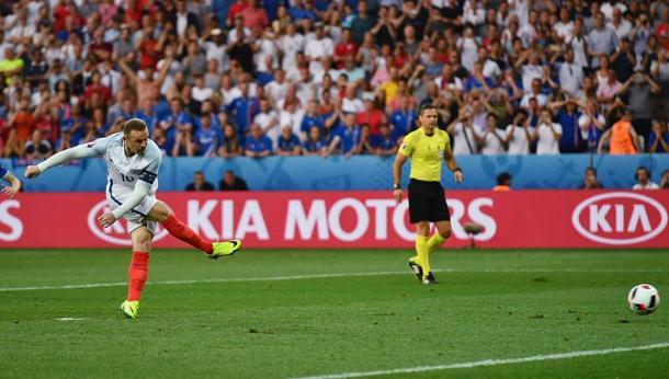 Wayne Rooney marcou o único golo da Inglaterra | Foto: Facebook UEFA Euro 2016