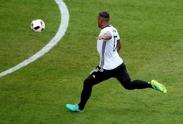 Boateng estreou o marcador aos oito minutos | Foto: Facebook Euro 2016