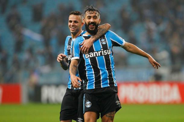 O Grêmio venceu o Santos por 3 a 2, na Arena, na última quarta-feira (29) | Foto: Divulgação/Grêmio)
