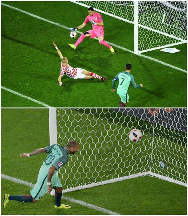 A sequência do golo de Quaresma | Foto: Facebook UEFA Euro 2016
