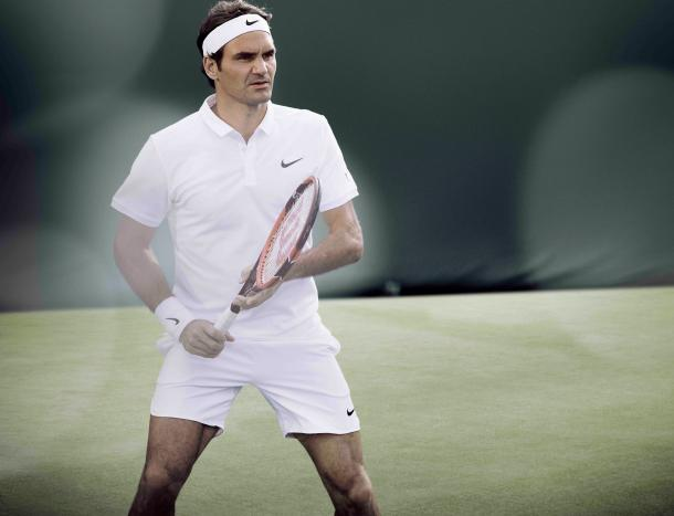 Federer sports his new Nike gear created for his 2016 Wimbledon campaign. Credit: Roger Federer/Facebook