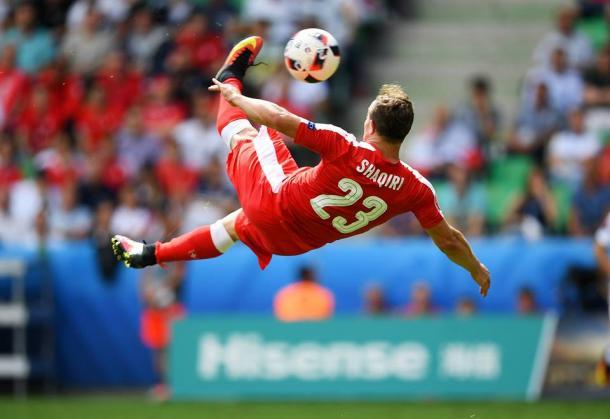 Shaqiri fez um dos melhores golos deste Europeu | Foto: Facebook UEFA Euro 2016