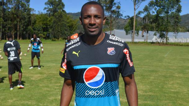 Juan David Valencia llegó cedido del Santa Fe.   Foto: DIM