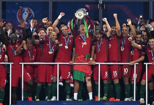 O mês de Julho foi histórico para a história do Futebol Português | Foto : Facebook Oficial Selecções de Portugal