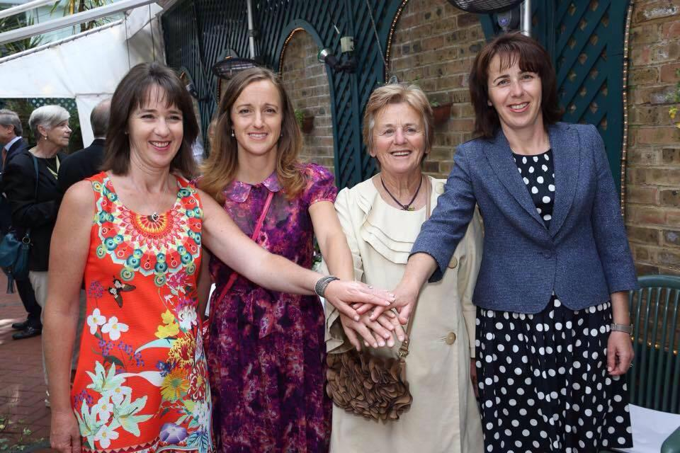 The Maleeva sisters with mother, Yulia (second from right), at Wimbledon 2016 where the latter was conferred Georgina Clark Mother Award. Photo: Manuela Maleeva Facebook