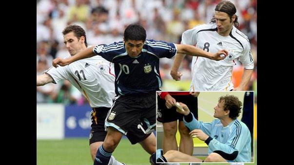 Riquelme fue el 10 argentino en aquel Mundial. Mientras que abajo está Lehmann, que enterró los sueños argentinos en aquel 2006. Foto: Web.