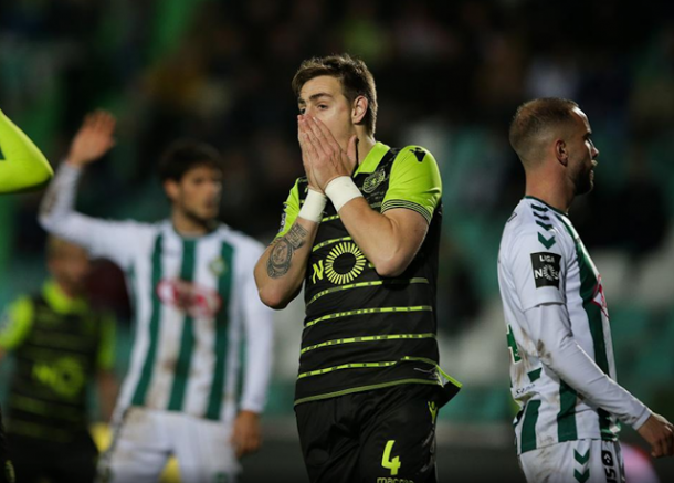 Coates se lamenta por la oportunidad perdida | Foto: Sporting CP
