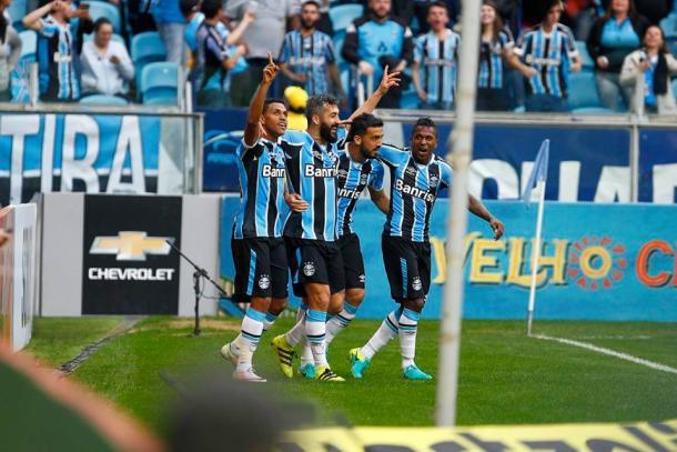 Douglas marcou o gol da vitória gremista na Arena (Foto: Divulgação/Grêmio)
