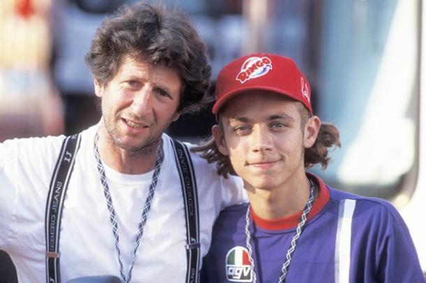 Rossi y su padre I Foto: visordown.com