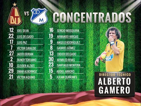 Concentrados Deportes Tolima / Foto : @DeportesTolimaOficial