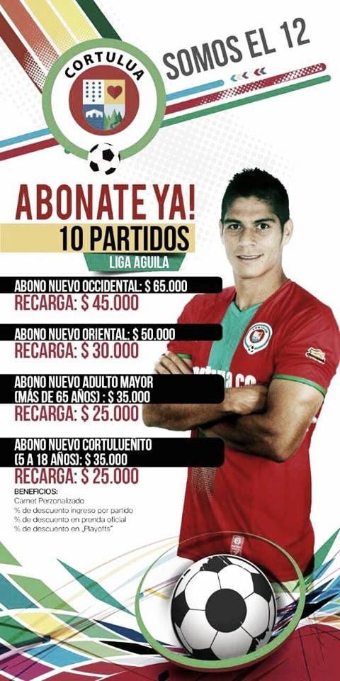 Afiche venta de abonos Cortuluá | Foto : Twitter Oficial Cortulua
