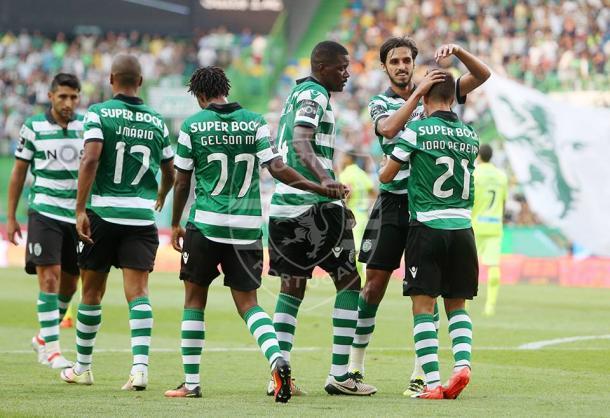 Os leões conquistaram os 3 pontos no primeiro jogo da temporada | Foto: César Santos - Facebook Oficial Sporting