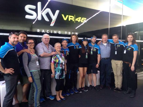 Why was Fenati not present at the Sky hospitality event after Qualifying - www.facebook.com (Sky Racing Team VR46)