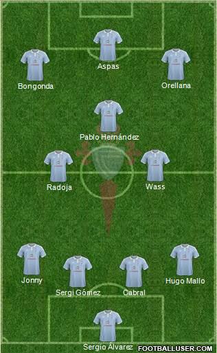 Posible once del Celta de Vigo.