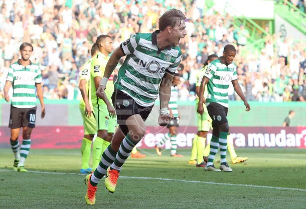 Coates fez as bancadas de Alvalade vibrarem com o 1º golo //  Foto: Facebook do Sporting CP