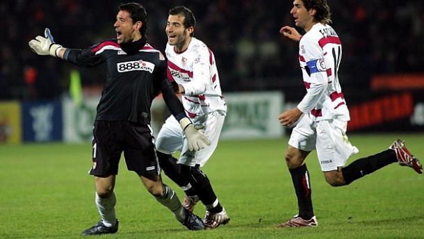 La pazza gioia di Palop, autore del gol del 2-2 nel match del 2007. Fonte: Marca.es
