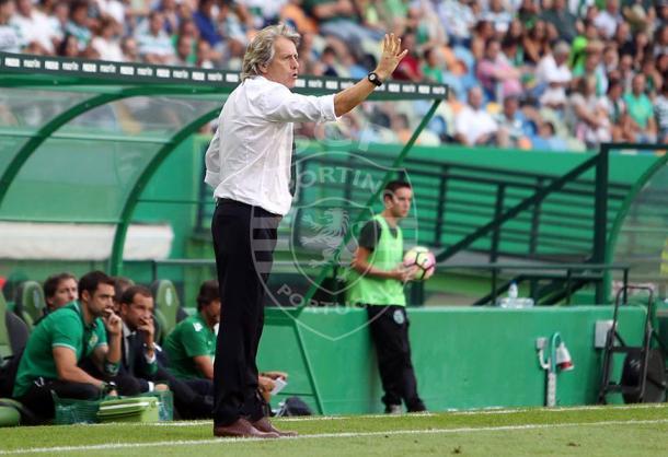 Jorge Jesus reafirma que o objectivo dos leões é o título | Foto: César Santos - Facebook Oficial Sporting