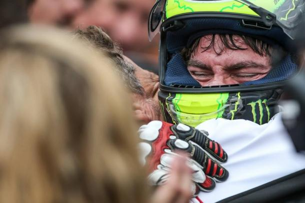 Clear to see how much Crutchlow wanted the win - www.facebook.com (Cal Crutchlow)