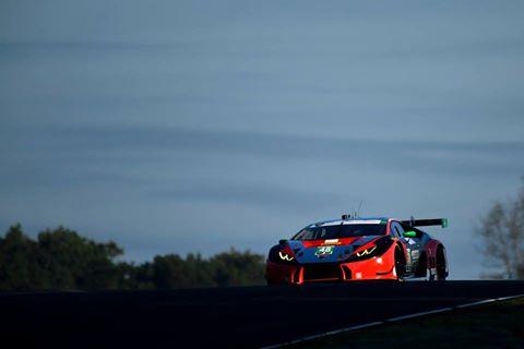 Primeira vitória da Lamborghini na IMSA. Foto: IMSA)