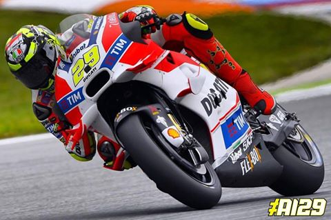 Second at the end of day one of Free Practice in Brno - www.facebook.com (Andrea Iannone)