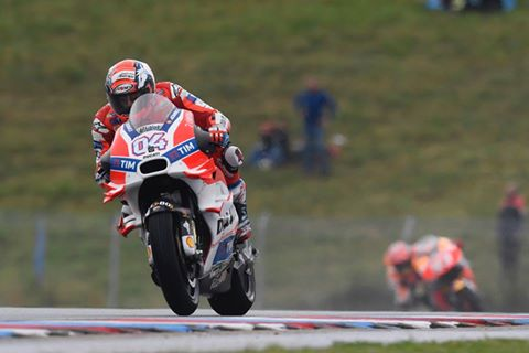 Dovizioso in action at teh Czech GP - Getty Images