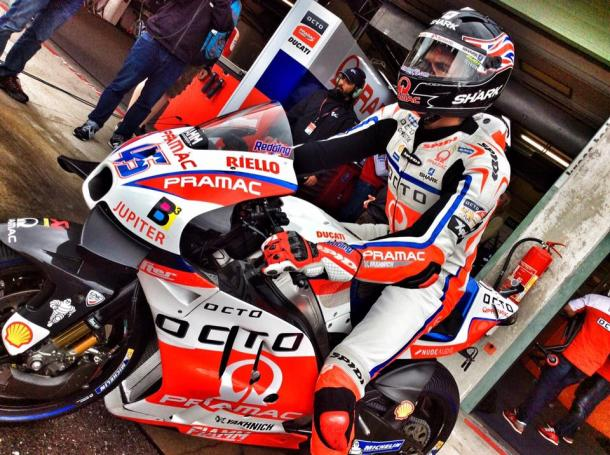 Redding heading out of the pits - www.facebook.com (Pramac Racing)