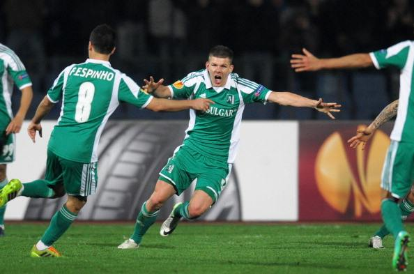 Bezjak also brings Champions League experience to the table, having competed in the competition with Ludogorets - who he is pictured celebrating with above. (Photo: NIKOLAY DOYCHINOV/AFP/Getty Images)