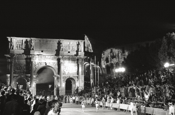 final da Maratona no Arco de Constantino (Foto: Mondadori Portfolio/Getty Images)