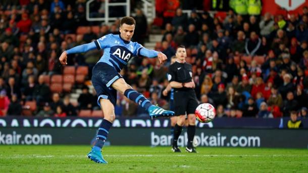 La precisione di Alli, stilisticamente perfetto nell'occasione del quarto gol Spurs. Fonte: premierleague.com