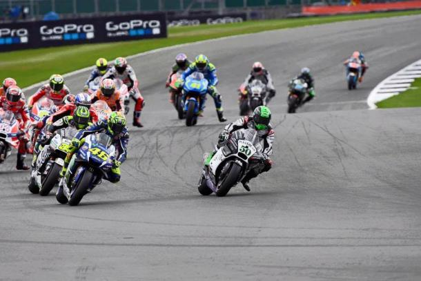 Impressive start to British GP saw Laverty up to 2nd ahead of Rossi before race red flagged on lap one - www.facebook.com (Eugene Laverty)
