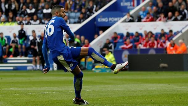 Il goal del vantaggio di Riyad Mahrez | Foto: premierleague.com