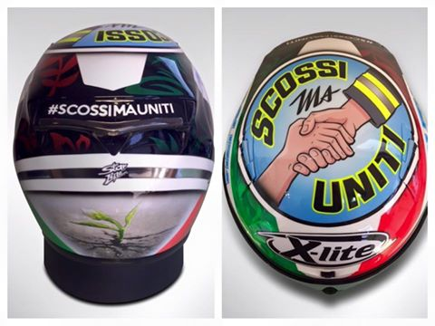 Petrucci's helmet dedicated to the victims of the earthquake in Italy last month - www.facebook.com (Danilo Petrucci)