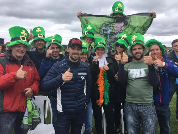 Luck of the Irish on side for Eugene Laverty at his home MotoGP at Silverston - www.elavertyfc.com