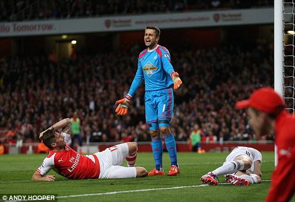 Fabianski all'Emirates lo scorso anno, più che decisivo. | Fonte immagine: Andy Hooper via Daily Mail