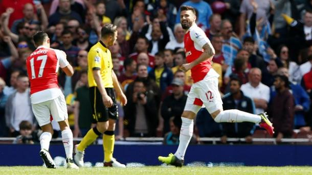 Giroud a segno per tre volte. Fonte: premierleague.com
